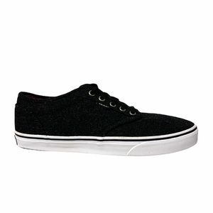 Vans Authentic Black Wool Skate Shoes